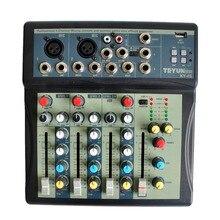 KY-4S 2 моно + 1 стерео 4 канала USB Профессиональный DJ микшер консоли с 48 В Phantom