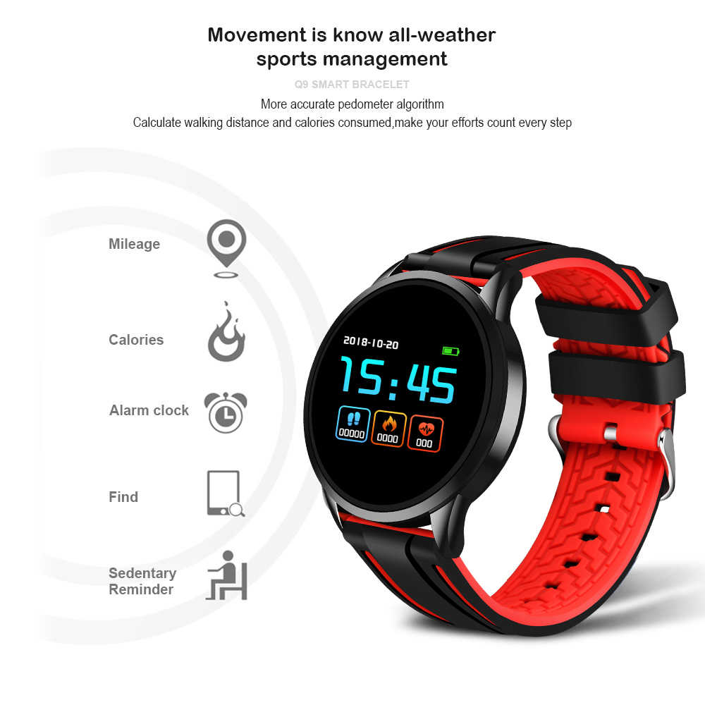 21019 Yeni LIGE Spor izci akıllı saat erkekler ve Kadınlar Için Kalp hızı kan basıncı fonksiyonu sağlık monitörü Spor akıllı saat