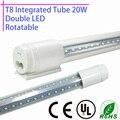 Rotatória LED Tubo T8 Integrado 20 w 60 cm 110 v 220 v 85-265 v duplo 2835 2ft levou Chip lâmpada tampa Transparente branco warmwhite