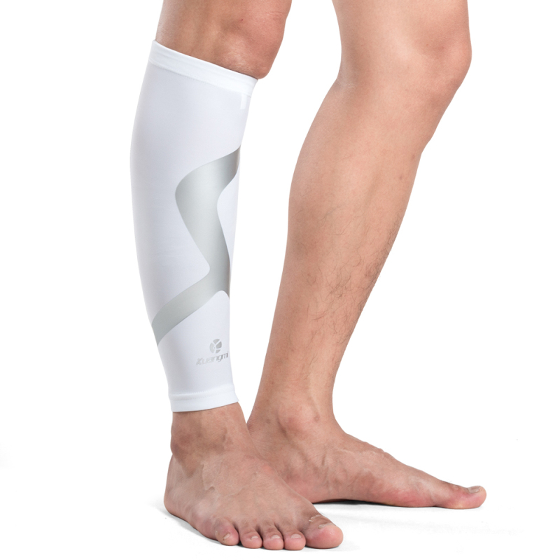Kuangmi Calf Compression Sleeves Support Sports Safety Running Shin Splint Brace Leg Socks Pad Shin Guard Soccer Protector in Elbow Knee Pads from Sports Entertainment
