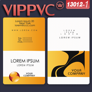 a13012 business card Template  for business card design and White PVC Cards Printing