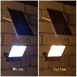 Image 5 - 따뜻한/흰색 디 밍이 가능한 야외 태양 투광 조명 방수 태양 led 거리 빛 태양 전원 된 스포트 라이트 정원에 대 한 led 반사판