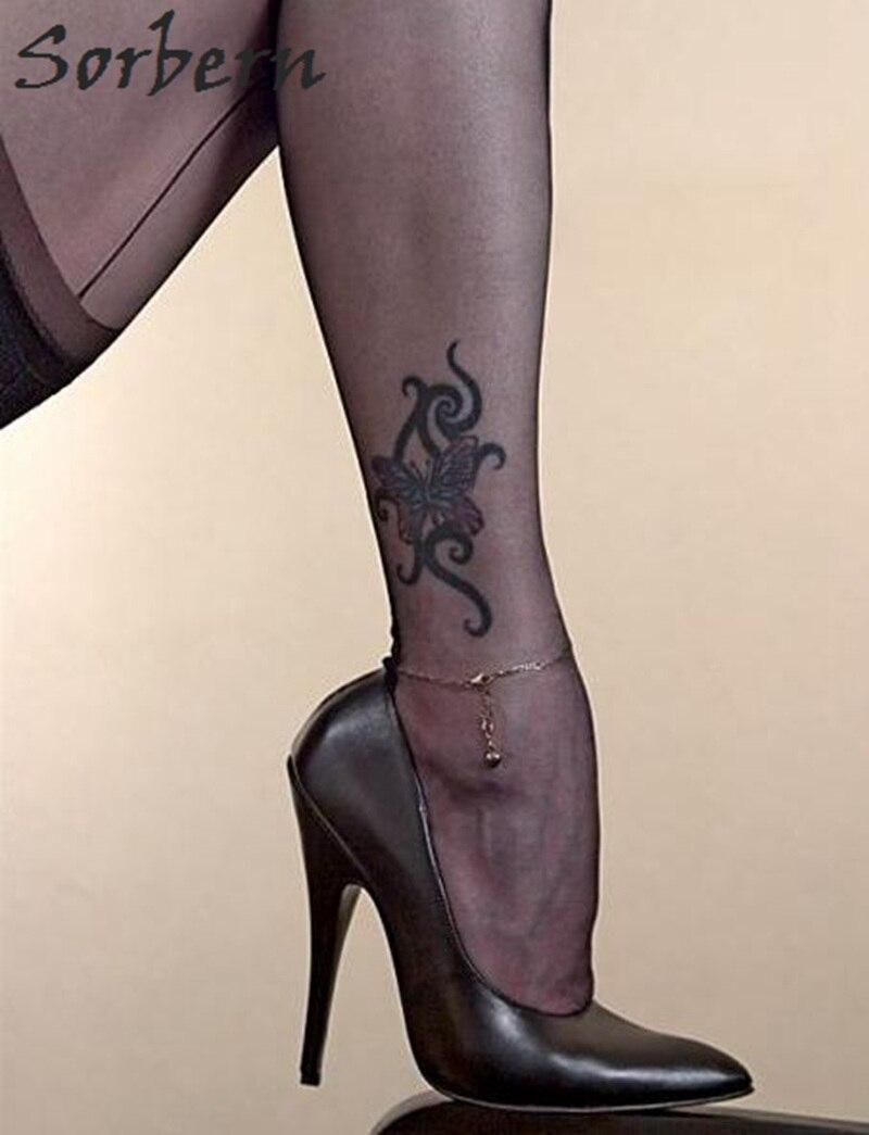 Sapato Haute Parti 12 rouge Talons Cm Stilettos Talon Slip Noir Pompe Chaussures Bout Femmes Pointu Sorbern Sexy Sur Feminino Noir xZqaII