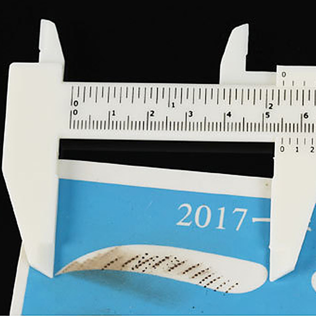 1 pcs Double Scale Sliding Gauge Permanent Makeup Eyebrow Ruler Caliper 2