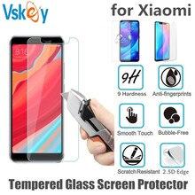 VSKEY 100 stücke 2.5D Gehärtetem Glas Für Xiao mi Pocophone F1 mi 6X 5X Spielen 5s A1 A2 S2 y2 Y3 8 9Screen Protector Schutz Film