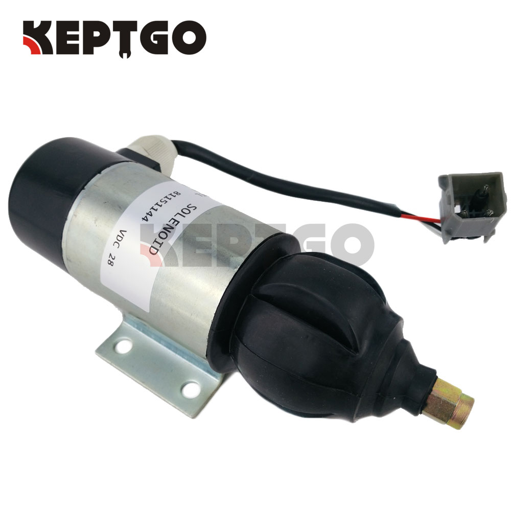 28V Fuel Shutdown Stop Solenoid Valve For Perkins 81151144 872805 - Free Shipping 3pc fuel stop solenoid u85206452 for perkins 400 series engines 12v fast free shipping