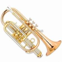 Bb cornet труба желтый латунный золотой лак с Чехол и мундштук, музыкальные инструменты