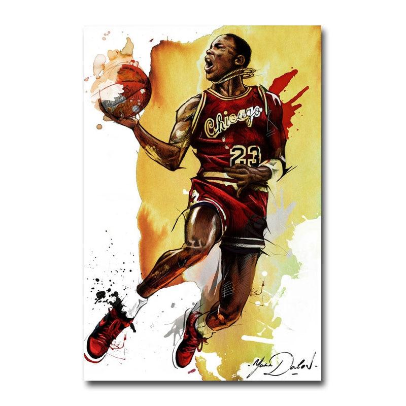 Hot Deal #b5bc Michael Jordan Dunk Poster Canvas Cloth