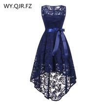 OML525Z # קדמי קצר ארוך בחזרה כהה כחול קשת שושבינה שמלות מסיבת חתונת שמלת נשף שמלת ילדה סיטונאי זול אופנה נשים