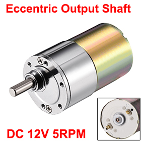 Uxcell(R) Hot Sale 1Pcs 12V DC 5RPM Gear Motor High Torque Electric Micro Speed Reduction Geared Motor Eccentric Output Shaft zgb37rg dc 12v 37mm cylindrical 5rpm output speed dc geare motor diy robot