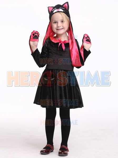 Toddler Black Cat Cosplay Costume Deluxe Halloween Costume