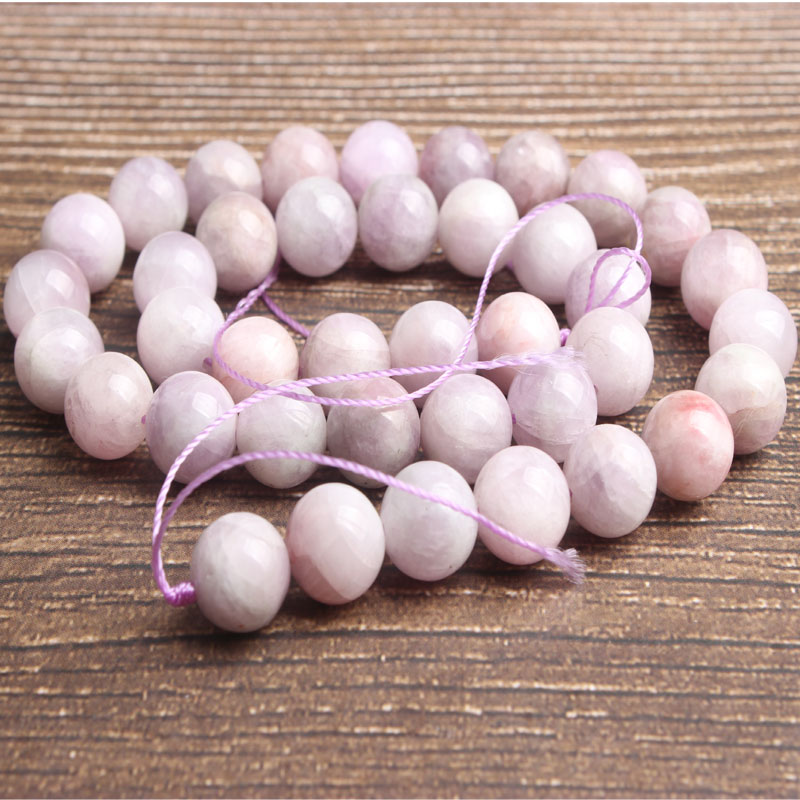 Lan Li fashion natural Jewelry inferior kunzite loose beads DIY woman bracelet necklace ear stud accessories in Beads from Jewelry Accessories