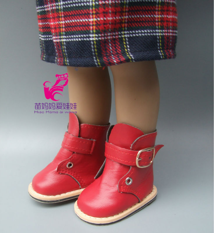 Fashion PU leather Martin Boots Shoes for 18 inch 45CM American Girls Dolls, shoes Alexander doll baby girl gift