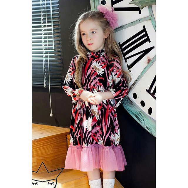 Girls Dress 2017 Spring And Summer Children S Clothes Lovely