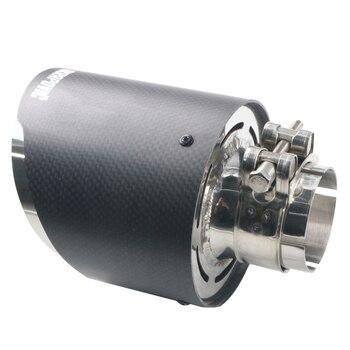 EM 51mm OD 114 milímetros Matte carro carro-styling ponta silenciador tubo de escape Akrapovic fibra de carbono