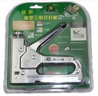 Free Shipping Portable 4 14mm Staple Gun Nail Stapler Wood Paper Nail Gun Adjustable Driver Force