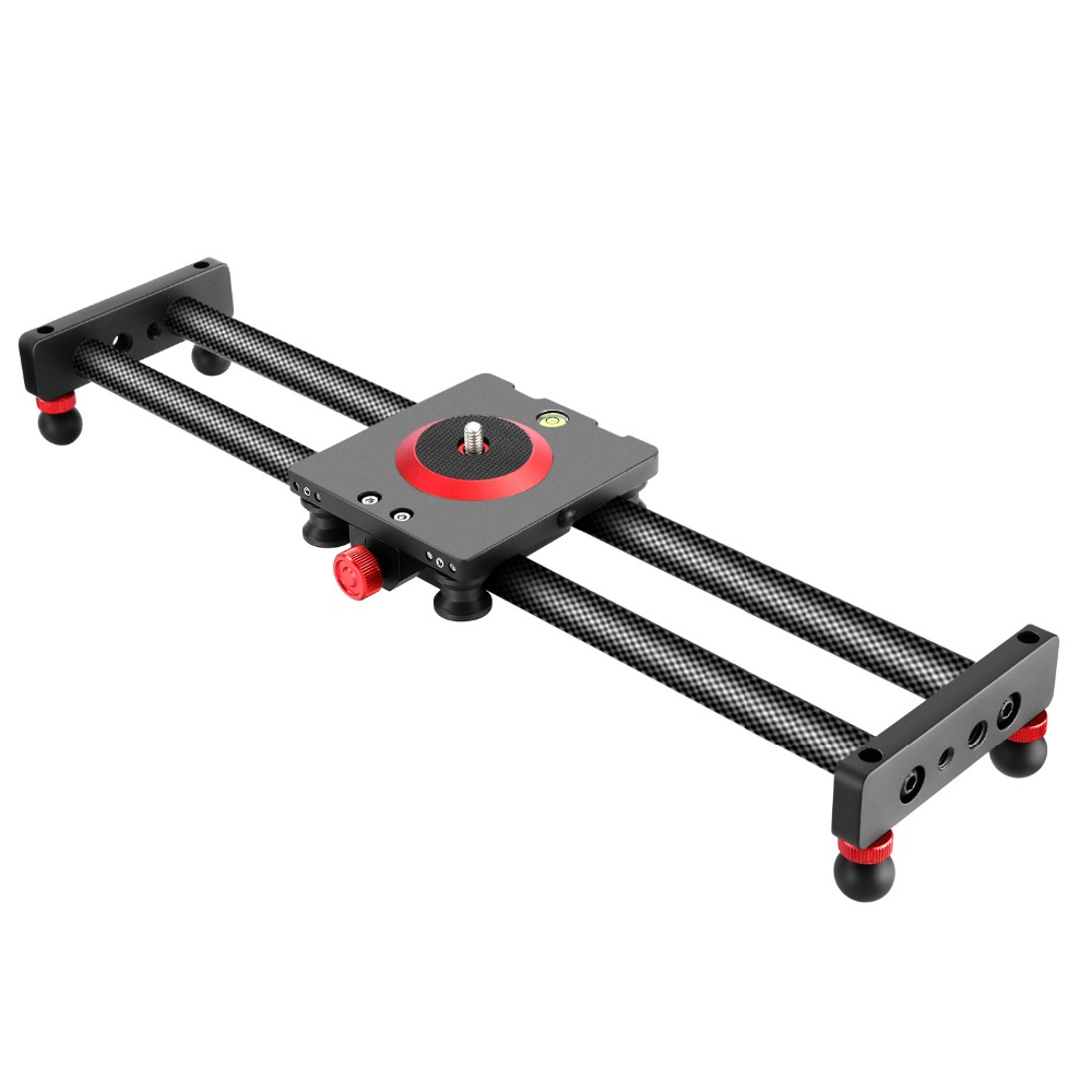 Neewer Camera Slider Carbon Fiber Dolly Rail, 16 inches/40 centimeters with 4 Bearings for Smartphone Nikon Canon Sony Camera image
