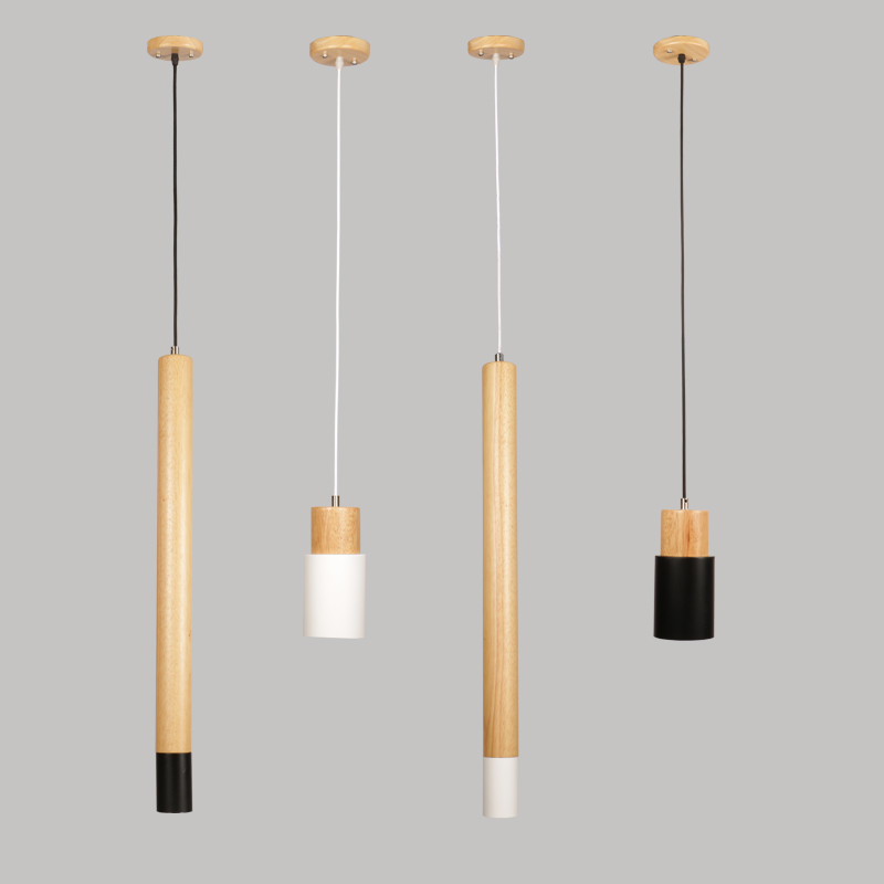 Modern brief minimalist creative wood pendant light fixture nordic home decor bedroom bedside straight black iron pendant lampModern brief minimalist creative wood pendant light fixture nordic home decor bedroom bedside straight black iron pendant lamp