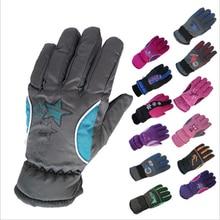 Lyžařské zimní dětské rukavice voděodolné 5-10 let