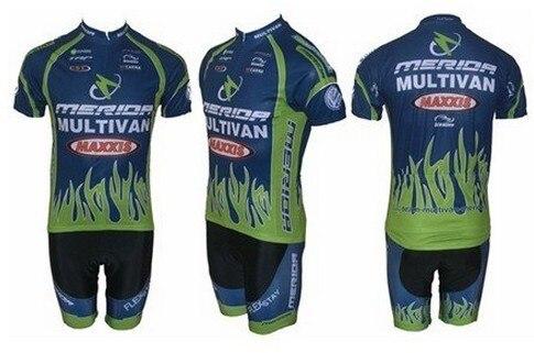 Бесплатная доставка! Merida-3 команды Велосипеды Джерси и выстрел/с коротким рукавом Майки + Z123 велосипед одежда набор COOL MAX