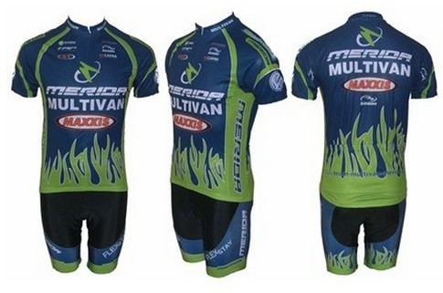 Free shipping! MERIDA-3 team cycling jersey and shot / short sleeve jerseys+Z123 bike bi ...