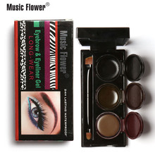3 Colors Music Flower Makeup Eyebrow Powder & Eyeliner Gel Lasting Smudgeproof Waterproof Cosmetics Eye Brow Enhancers Maquiagem