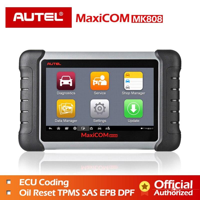Autel MaxiCOM MK808 OBD OBD2 EOBD Outil De Diagnostic Automobile scanner Code reader programmeur principal MX808 voiture de diagnostic OBDII Câble