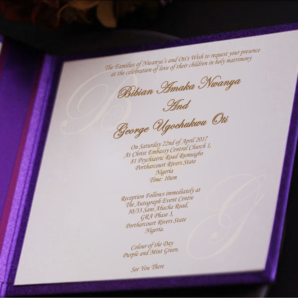 Clic Wedding Invitations Card Gold Embossed Design With Purple Ribbon For Birthday Enement Graduation Anniversary Party In Cards From