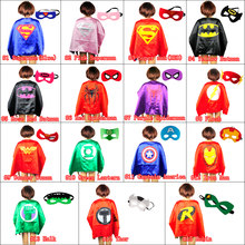 Mask+cape superman spiderman kids superhero capes batman superhero costume suits for boys girls for party(China)