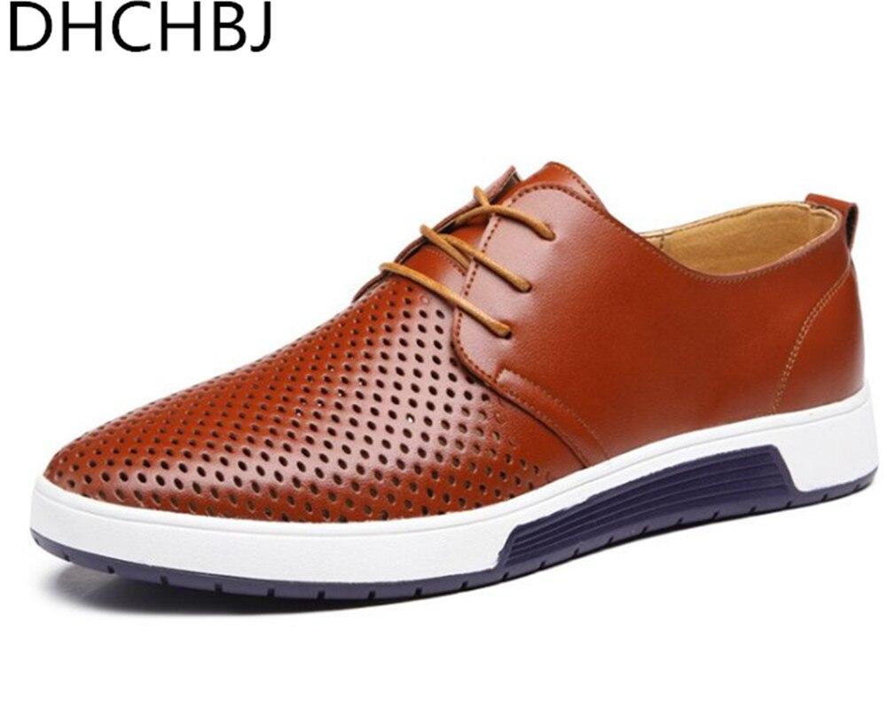 Chaussures D'été 01 2018 En Cuir Outs Mode 04 03 Casual Hommes Véritable 05 02 06 Creux Pour Espadrilles De Nouveau 8qWS8Y