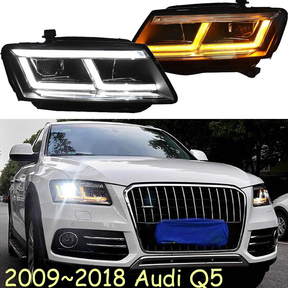 LED 2009 ~ 2018 estilo de coche para Aude Q5 faros coche accesorios Q5 niebla lámpara a4... A5... A8... Q7... S3 S4 S5 S6 S7 S8... Q5 de la lámpara de la cabeza