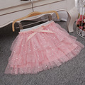 Girl TUTU Skirt  Summer New Girls Fashion Pink White Sparkle Bow TUTU Skirts Baby girl skirt,2-6Y