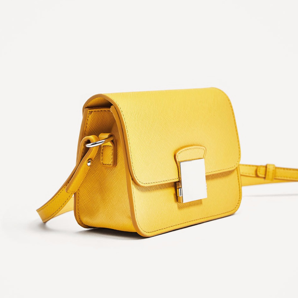 Fashion Brand Women Messenger Bag Yellow Mini Crossbody Bags Two Shoulder  Straps Designer Handbags High Quality Ladies-in Top-Handle Bags from  Luggage ... c9e4c60313c30