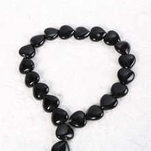 Baihande Natural Heart Carved Black Agate Onyx Stone 8 10 12mm Gemstone Loose Beads For Necklace Bracelet DIY Jewelry Making
