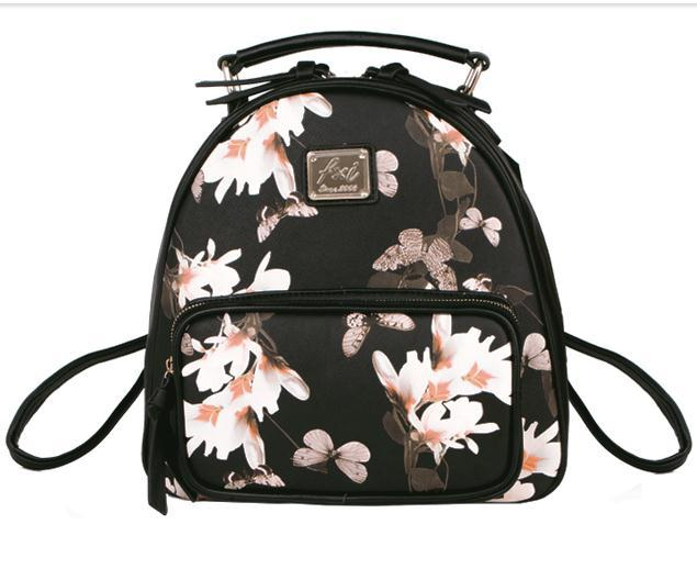 floral backpack printing bag high quality school bags for teenage ...