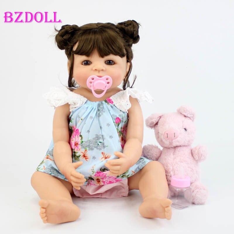 55 センチメートルフルボディ赤ちゃん人形のおもちゃ 22 インチ新生児ベベアライブ誕生日クリスマスギフト入浴玩具  グループ上の おもちゃ & ホビー からの 人形 の中 1