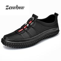 ZENVBNV 2018 Brand Casual Men Genuine Leather Shoes Luxury Designer Male Shoes Slip On Loafers Men