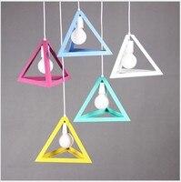 Modern Color Pendant Lights E27 Holder AC110 220V Metal Material Store Art Single Head Home Restaurant