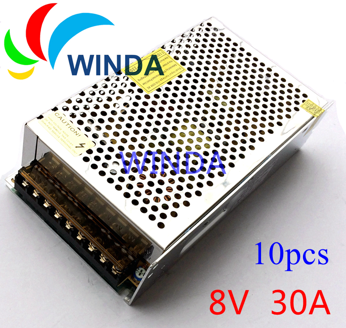 8V 30A 240W  power supply unit Voltage Transformer for centralized 110V  220V cctv 10pcs high voltage flyback transformer hy a 2 use for co2 laser power supply