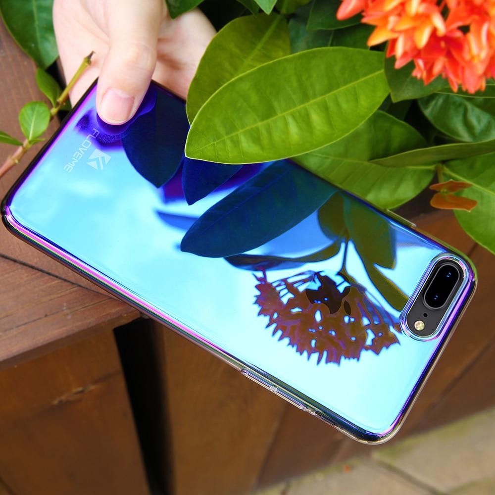 Phone Iphone X XS Max 7 8 Plus Gradient Clear Hard Plastic Iphone 6 6S 7 Plus X XR Cover Capa