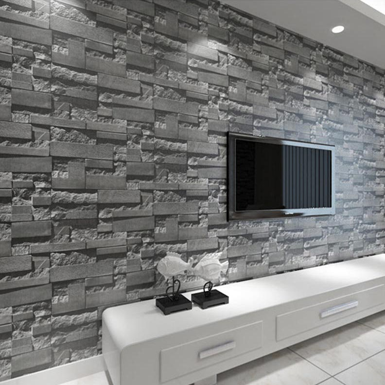Brick Style Wallpaper Part - 23: ... Thick White Brick Wallpaper And 3d Brick Wallpaper Vintage Brick Pattern  Paper Wallpaper For Living Room ...