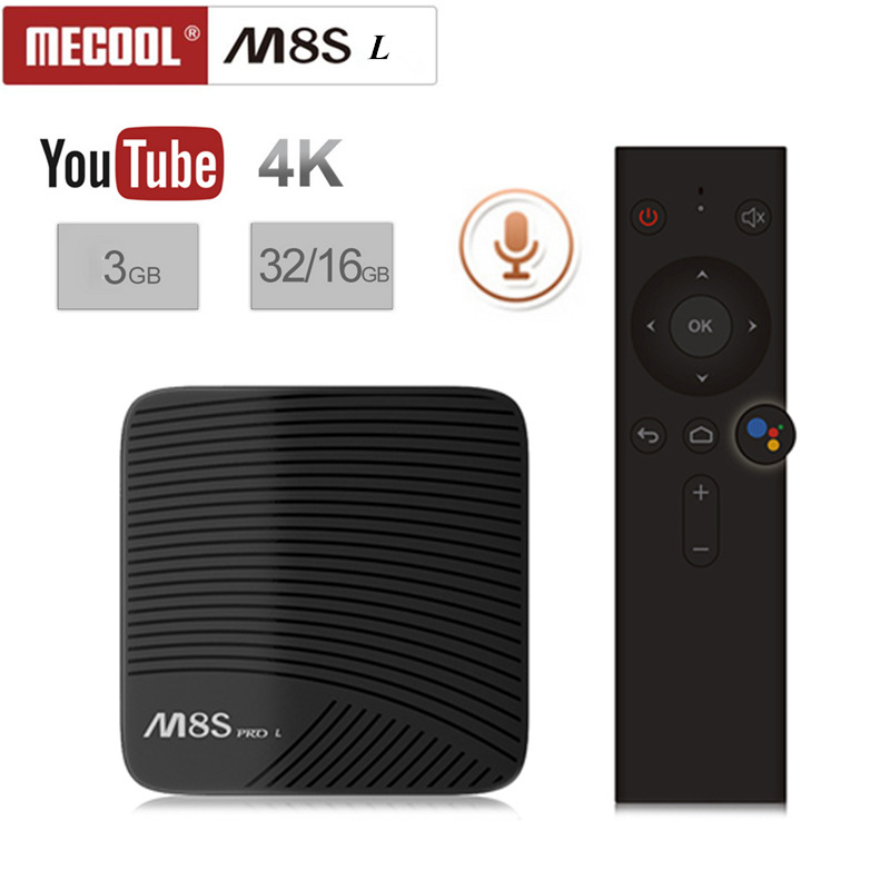 M8S PRO L Voice Control 4K UHD TV Box 3G+16G//32G Android 7.1 Dual WiFi Octa Core