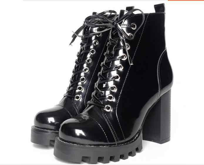 ac684fe8a Пикантные женские ботильоны Красивая повседневная женская обувь на платформе  пикантные Высокие каблуки Кружево до лианы Модные