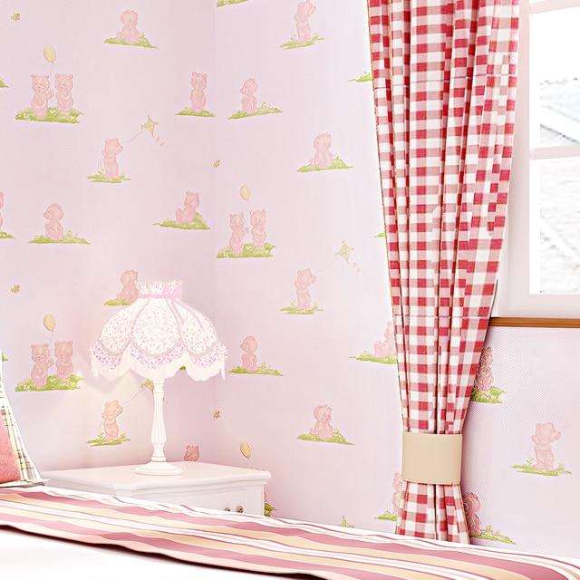 Aliexpresscom Buy Cute Bear Wallpaper For Kids Room Child Boy - Blue wallpaper for girls bedroom