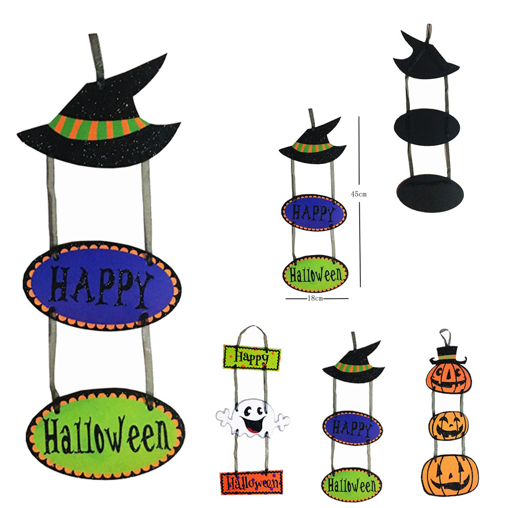 happy halloween decor hanging pendant in door pumpkin ghost pendant party diy decoration ornaments halloween party - Halloween Hanging Decorations