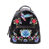 Ethnic Embroidered Backpack For Girls Folk Phoenix Bag Ladies Flower Embroidery Backpack Small Back Pack Women