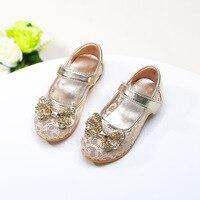 2017 zomer nieuwe schoenen ademende schoenen baby baby prinses diamant boog sandalen maat 21-36
