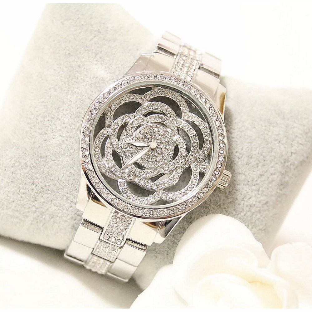 2016 Arrival BS Brand Full Diomand Hollow carved Rose Flower Watch Women Luxury Austrian Crystals Watch Lady Rhinestone Bracelet new arrival bs brand hot sale full diomand shell watch women luxury austrian crystals watch lady rhinestone bracelet