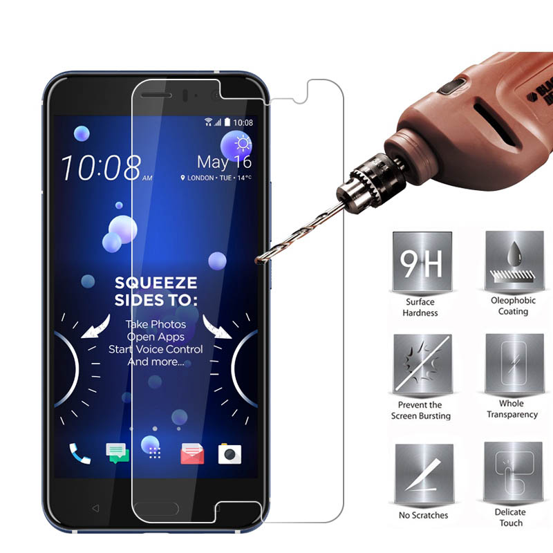 Phone Screen Protectors 2pcs Tolifeel Tempered Glass For Htc U11 Eyes Screen Protector 9h 2.5d Toughened Phone Protective Film For Htc U11 Eyes Glass