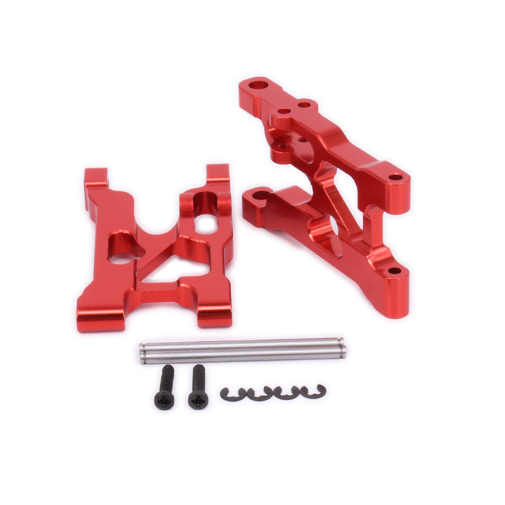 2Pcs Alloy Front Lower Suspension Arm For Rc Model Car 1-12 Wltoys 12428 12423 0004 FY03 A-Arm Monster Truck Short Course Parts metal spur differential main gear 62t 0015 for wltoys 12428 12423 1 12 rc car crawler short course truck upgrade parts